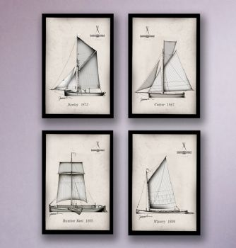 Wooden Boats - signed prints
